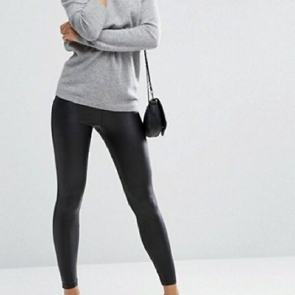 45ac37dd61c79a asos Pants | Leather Look Leggings | Poshmark